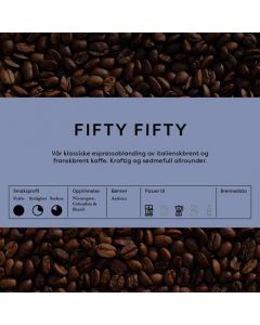 BC Fifty/ fifty Espresso- & Kaffeblanding Hele Bønner
