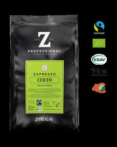 Zoégas Certo espresso Hele Bønner 500gr