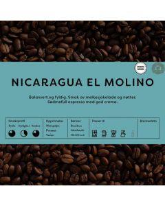 Black Cat Nicaragua El Molino 1kg Hele Bønner